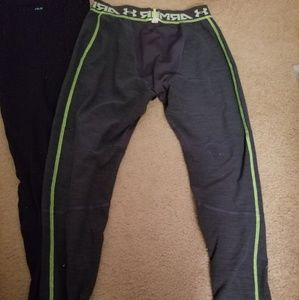 Two underarmor coldgear leggings lg